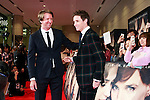 (L to R) Director Tom Hooper and actor Eddie Redmayne pose for the cameras during the Japan premiere of The Danish Girl on March 9, 2016, Tokyo, Japan. Eddie Redmayne with his wife Hannah Bagshawe came to Japan to greet fans during the red carpet for the movie The Danish Girl. The film was nominated in four categories at the Academy Awards with Best Supporting Actress going to Alicia Vikander. Redmayne who won Best Actor at the Academy Awards in 2015 lost out this year in the Best Actor category to Leonardo DiCaprio. The film hits Japanese theaters on March 18. (Photo by Rodrigo Reyes Marin/NipponNews.net)