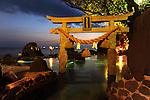 Onsen, hot spring, in a hotel in Sakurajima.<br /> <br /> Onsen, source thermale, dans un hôtel à Sakurajima. Japon.