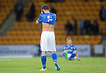 St Johnstone v Alashkert FC...09.07.15   UEFA Europa League Qualifier 2nd Leg<br /> A gutted Chris Kane<br /> Picture by Graeme Hart.<br /> Copyright Perthshire Picture Agency<br /> Tel: 01738 623350  Mobile: 07990 594431