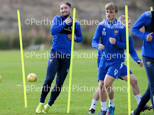 St Johnstone Training….McDiarmid Park, Perth.<br />Chris Kane back in training after a long injury layoff ahead of Saturday's game at Motherwell.<br />Picture by Graeme Hart.<br />Copyright Perthshire Picture Agency<br />Tel: 01738 623350  Mobile: 07990 594431