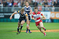 20120803 Copyright onEdition 2012©.Free for editorial use image, please credit: onEdition..Ian Clark of Gloucester Rugby scores a try against Sale Sharks 7s at The Recreation Ground, Bath in the Final round of The J.P. Morgan Asset Management Premiership Rugby 7s Series...The J.P. Morgan Asset Management Premiership Rugby 7s Series kicked off again for the third season on Friday 13th July at The Stoop, Twickenham with Pool B being played at Edgeley Park, Stockport on Friday, 20th July, Pool C at Kingsholm Gloucester on Thursday, 26th July and the Final being played at The Recreation Ground, Bath on Friday 3rd August. The innovative tournament, which involves all 12 Premiership Rugby clubs, offers a fantastic platform for some of the country's finest young athletes to be exposed to the excitement, pressures and skills required to compete at an elite level...The 12 Premiership Rugby clubs are divided into three groups for the tournament, with the winner and runner up of each regional event going through to the Final. There are six games each evening, with each match consisting of two 7 minute halves with a 2 minute break at half time...For additional images please go to: http://www.w-w-i.com/jp_morgan_premiership_sevens/..For press contacts contact: Beth Begg at brandRapport on D: +44 (0)20 7932 5813 M: +44 (0)7900 88231 E: BBegg@brand-rapport.com..If you require a higher resolution image or you have any other onEdition photographic enquiries, please contact onEdition on 0845 900 2 900 or email info@onEdition.com.This image is copyright the onEdition 2012©..This image has been supplied by onEdition and must be credited onEdition. The author is asserting his full Moral rights in relation to the publication of this image. Rights for onward transmission of any image or file is not granted or implied. Changing or deleting Copyright information is illegal as specified in the Copyright, Design and Patents Act 1988. If you are in any way unsure of your right to publish this