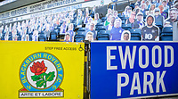 24th April 2021; Ewood Park, Blackburn, Lancashire, England; English Football League Championship Football, Blackburn Rovers versus Huddersfield Town; The virtual fans are present for the game against Huddersfield Town today.