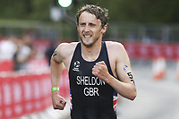 6th June 2021; Leeds, Yorkshire, England;  Grant Sheldon in action during the AJ Bell 2021 World Triathlon Series Event in Roundhay Park, Leeds.