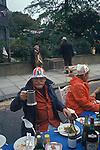 Silver Jubilee street party north London UK 1977 1970s.
