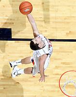 Dec. 17, 2010; Charlottesville, VA, USA; Virginia Cavaliers guard Sammy Zeglinski (13) grabs a rebound during the game against the Oregon Ducks at the John Paul Jones Arena. Virginia won 63-48. Mandatory Credit: Andrew Shurtleff-