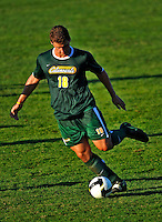 22 September 2008: University of Vermont Catamounts' midfielder Ryan White, a Sophomore from Eugene, OR, in action against the Colgate University Raiders at Centennial Field, in Burlington, Vermont. The Raiders edged out the Catamounts 2-1, handing the Soccer Catamounts their first home loss of the 2008 season. ..Mandatory Photo Credit: Ed Wolfstein Photo