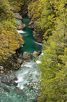 Fish River near Haast Pass, Mt. Aspiring National Park, Central Otago, UNESCO World Heritage Area, New Zealand, NZ