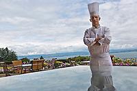 Europe/France/Rhône-Alpes/74/Haute-Savoie/Évian-les-Bains:  Patrice Vander  chef des restaurants de Hôtel: Evian Royal Resort [Non destiné à un usage publicitaire - Not intended for an advertising use]