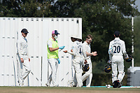 Sanitisation break during Middlesex CCC vs Hampshire CCC, Bob Willis Trophy Cricket at Radlett Cricket Club on 11th August 2020