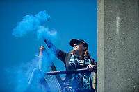 Seattle, WA - Saturday May 13, 2017: Seattle Reign FC fans during a regular season National Women's Soccer League (NWSL) match between the Seattle Reign FC and the Washington Spirit at Memorial Stadium.