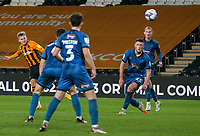 Hull City's James Scott scores his side's third goal \<br /> <br /> Photographer Alex Dodd/CameraSport<br /> <br /> EFL Papa John's Trophy - Northern Section - Group H - Hull City v Grimsby Town - Tuesday 17th November 2020 - KCOM Stadium - Kingston upon Hull<br />  <br /> World Copyright © 2020 CameraSport. All rights reserved. 43 Linden Ave. Countesthorpe. Leicester. England. LE8 5PG - Tel: +44 (0) 116 277 4147 - admin@camerasport.com - www.camerasport.com