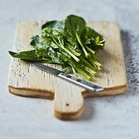 Gastronomie Générale: Epinards - Stylisme : Valérie LHOMME  //  <br /> Gastronomy: Spinach - Stylism: Valérie LHOMME