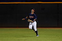 AZL Indians Red right fielder Jean Montero (15) prepares to catch a fly ball during an Arizona League game against the AZL Padres 1 on June 23, 2019 at the Cleveland Indians Training Complex in Goodyear, Arizona. AZL Indians Red defeated the AZL Padres 1 3-2. (Zachary Lucy/Four Seam Images)