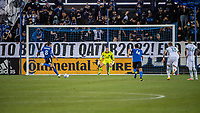 SAN JOSE, CA - MAY 15: Chris Wondolowski #8 of the San Jose Earthquakes takes a penalty during a game between San Jose Earthquakes and Portland Timbers at PayPal Park on May 15, 2021 in San Jose, California.