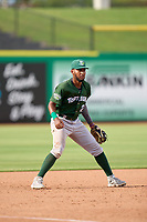 Daytona Tortugas third baseman Reyny Reyes (29) during a game against the Clearwater Threshers on June 24, 2021 at BayCare Ballpark in Clearwater, Florida.  (Mike Janes/Four Seam Images)