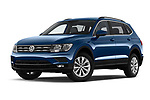 Stock pictures of low aggressive front three quarter view of a 2019 Volkswagen Tiguan Confrontline-business  5 Door SUV
