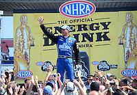 Jun. 3, 2012; Englishtown, NJ, USA: NHRA top fuel dragster driver T.J. Zizzo during the Supernationals at Raceway Park. Mandatory Credit: Mark J. Rebilas-