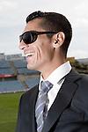 Getafe's Javier Casquero during sunglasses fashion shoot. October 07, 2010. (ALTERPHOTOS/Alvaro Hernandez)