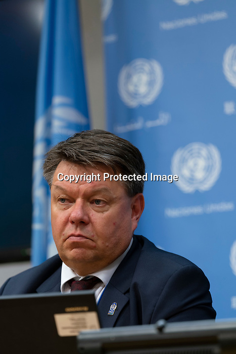 Press Conference on Climate change by the Secretary-General of the World Meteorological Organization, Professor Petteri Taalas.