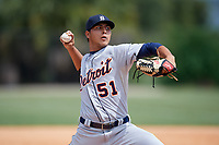 Detroit Tigers pitcher Adolfo Bauza (51) during an Instructional League instrasquad game on September 20, 2019 at Tigertown in Lakeland, Florida.  (Mike Janes/Four Seam Images)