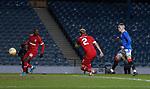 25.02.2021 Rangers v Royal Antwerp: Ryan Kent scores goal no 3 for Rangers