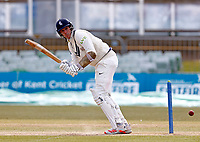 Fred Klaassen bats for Kent during Kent CCC vs Lancashire CCC, LV Insurance County Championship Group 3 Cricket at The Spitfire Ground on 25th April 2021