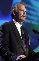 Sept 27 ,  2000 File Photo<br /> Norm Francis CEO of Pivotal gives a short sepech after he  receive the number 1 Fast 50  award for best  company performance at the Fast 50 Gala, Sept 27, 2000 in Montreal, CANADA<br /> Photo by Pierre Roussel, / Liaison<br /> NOTE : RAW D-1 JPEG