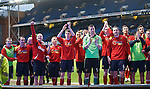 Albion Rovers salute their fans at the end