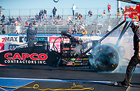 Oct 31, 2020; Las Vegas, Nevada, USA; NHRA top fuel driver Billy Torrence during qualifying for the NHRA Finals at The Strip at Las Vegas Motor Speedway. Mandatory Credit: Mark J. Rebilas-USA TODAY Sports
