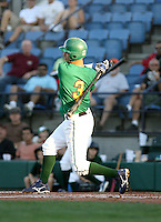 Marwin Gonzalez / Boise Hawks at bat against the Yakima Bears at Boise, ID - 08/27/2008..Photo by:  Bill Mitchell/Four Seam Images
