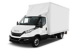 2020 Iveco Daily C 2 Door Van Box Angular Front automotive stock photos of front three quarter view