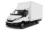 2020 Iveco Daily C 2 Door Van Box Angular Front automotive stock photos of front three quarter view