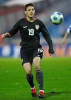 Robbie Rogers controls the ball. Slovakia defeated the US Men's National Team 1-0 at the Tehelne Pole in Bratislava, Slovakia on November 14th, 2009.