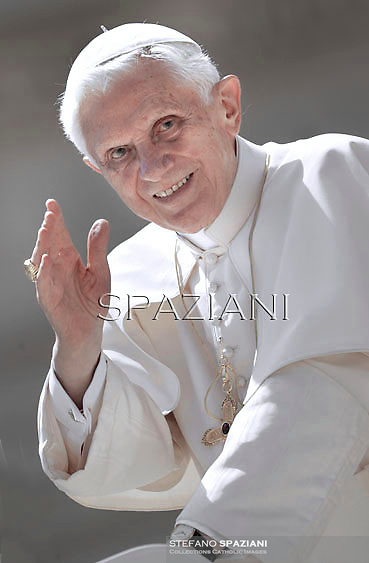 Pope Benedict XVI during his weekly general audience in St. Peter square at the Vatican, Wednesday. 2 May, 2012