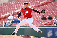 May 5th 2008:  Pitcher Rick Bauer of the Buffalo Bisons, Class-AAA affiliate of the Cleveland Indians, during a game at Dunn Tire Park in Buffalo, NY.  Photo by Mike Janes/Four Seam Images