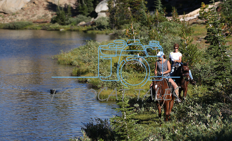 A horseback ride to Granite Lake in Alpine County, near Hope Valley, Ca. on Wednesday, Sept. 28, 2011..Photo by Cathleen Allison