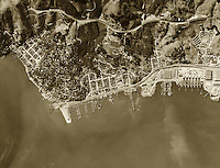 historical aerial photograph Sausalito Marin County California 1946