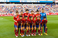 Korea Republic (KOR) starting XI. The women's national team of the United States defeated the Korea Republic 5-0 during an international friendly at Red Bull Arena in Harrison, NJ, on June 20, 2013.