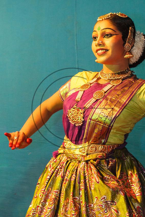 Asia,India,Kerala,Uthralikavu,Elephant Pooram, celebrations and dance the night before the the festival
