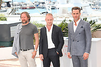 DIRECTOR DAVID MACKENZIE, BEN FOSTER AND CHRIS PINE - PHOTOCALL OF THE FILM 'HELL OR HIGH WATER' AT THE 69TH FESTIVAL OF CANNES 2016