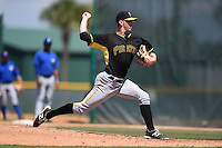 Pittsburgh Pirates pitcher Jerry Mulderig (77) during a minor league spring training game against the Toronto Blue Jays on March 21, 2015 at Pirate City in Bradenton, Florida.  (Mike Janes/Four Seam Images)