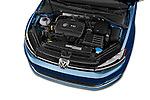 Car stock 2014 Volkswagen Golf SEL 5 Door Hatchback engine high angle detail view