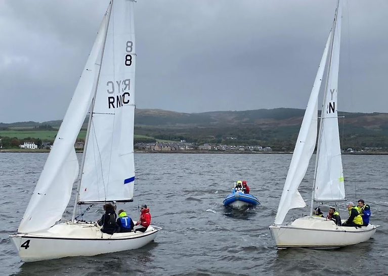 The Ceilidh Cup/Scottish Student Sailing (SSS) Match Racing event was hosted at the Royal Northern and Clyde Yacht Club in Rhu