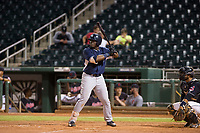 AZL Padres first baseman Jaquez Williams (45) at bat against the AZL Indians on August 30, 2017 at Goodyear Ball Park in Goodyear, Arizona. AZL Padres defeated the AZL Indians 7-6. (Zachary Lucy/Four Seam Images)
