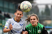 Davina Philtjens of Sassuolo (R) in action during the women Serie A football match between US Sassuolo and Hellas Verona at Enzo Ricci stadium in Sassuolo (Italy), November 15th, 2020. Photo Andrea Staccioli / Insidefoto