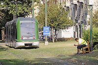 - Milan, migrant workers employed as temporary employees to railroad switchs by ATM during maintenance work on the tram network....- Milano, lavoratori immigrati impiegati come addetti temporanei agli scambi manuali dall'ATM in occasione di lavori di manutenzione sulla rete tranviaria
