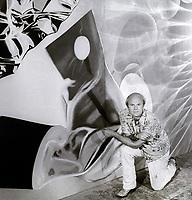 Artist James Rosenquist 1981<br /> Photo By Adam Scull/PHOTOlink.net