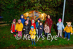 The delighted children stand at the Crib in Manor Village on Tuesday night.