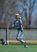 16 April 2016: University of Vermont Catamount Long Stick Midfielder Graham Bocklet, a Sophomore from Waccabuc, NY, in action against the University of Maryland, Baltimore County Retrievers at Virtue Field in Burlington, Vermont. The Catamounts defeated the Retrievers 14-10 in NCAA Division I play. Mandatory Credit: Ed Wolfstein Photo *** RAW (NEF) Image File Available ***