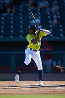 at Segra Park on May 13, 2019 in Columbia, South Carolina. The Fireflies walked-off the Braves 2-1 in game one of a doubleheader. (Brian Westerholt/Four Seam Images)
